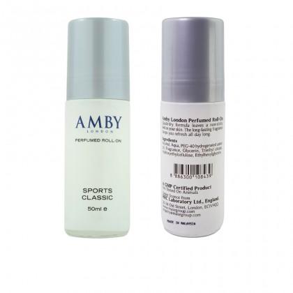 Amby London Perfumed Roll-On Sport Classic - 50ml