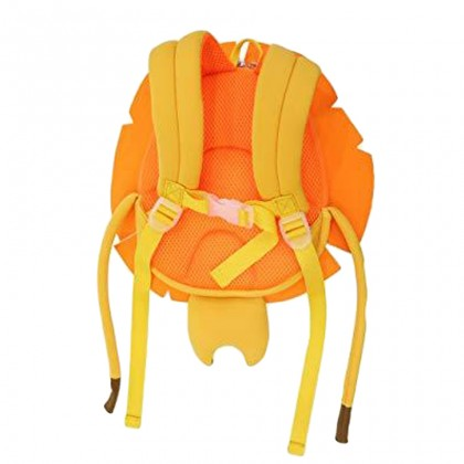 Kids Harness Lion 3D Preschool Bag Toodler Bag Safety Harness Bag Travel - Orange