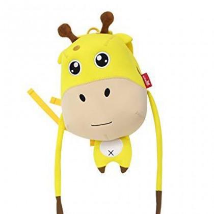 Kids Harness Girraffe Preschool Bag Toodler Bag Safety Harness Bag Travel - Yellow