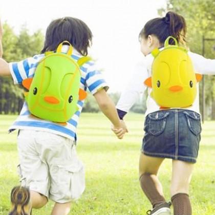 Kid Tri-Duckie 3D Design School Bag Sekolah Bag Preschool Backpack Bags - Green