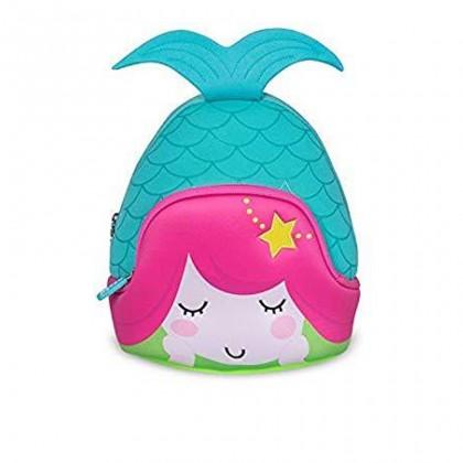 Kid Little Mermaid 3D Design School Bag Waterproof Preschool Backpack Bags - Blue MZNH046