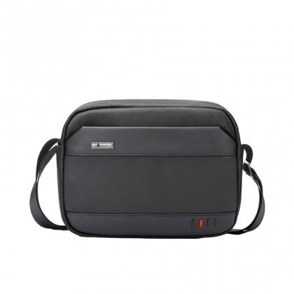 Men Casual Waterproof Horizontal Sling Bag - Black MZK00058
