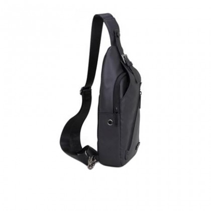 Men Casual Waterproof Crossbody Sling Bag - Black MZXB13006