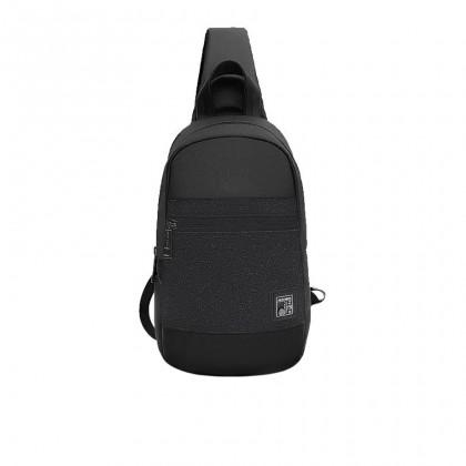 Men Casual Waterproof Crossbody Sling Bag - Black MZXB00060