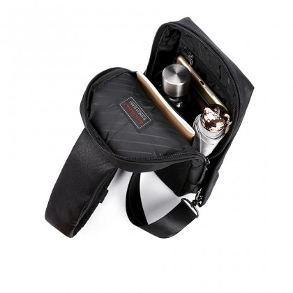 """Unisex Casual Waterproof Crossbody 7.9"""" Tablet Sling Bag - Black MZXB00039"""