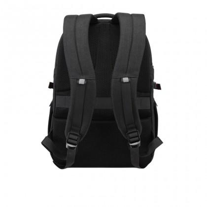 "Unisex Business Waterproof USB Port 15.6"" Laptop Backpack - Dark Grey MZB00338"