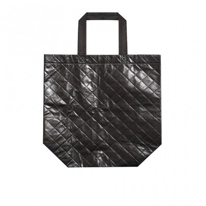Non Woven Fordable Grocery Shopping Bag 17L Capacity - Black MZNWB15126