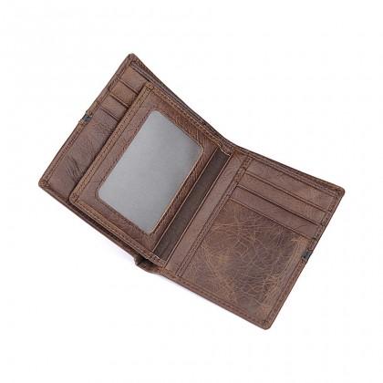 MIDZONE Bifold Genuine Leather Wallet - Dark Brown MZWW2107-013