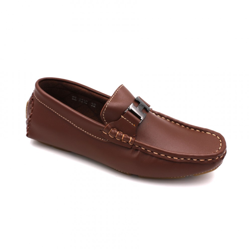 EXO SCORPION Children Boat Shoes EX431C Brown