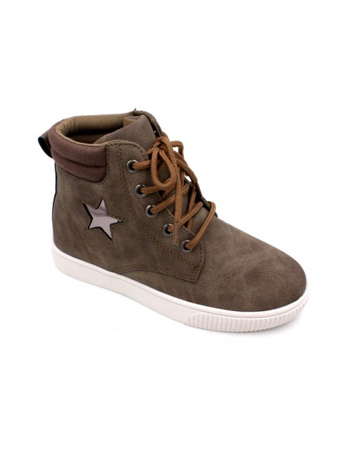EXO SCORPION Boys High Cut Sneaker EX097C Khaki