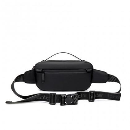 Men Casual Waterproof Crossbody Sling Bag - Black MZY-00020