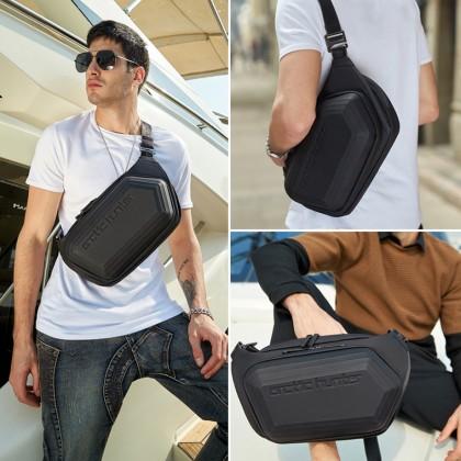 Men Casual Waterproof Crossbody Sling Bag - Black MZY-00013