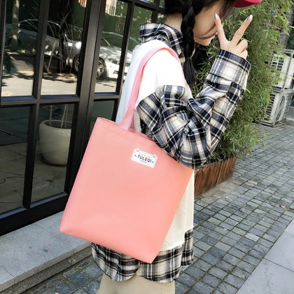Girl Cute Pink Canvas 4 in 1 Backpack Set - Pink MZHB3904