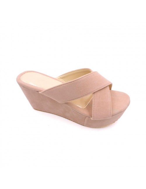 MIDZONE Lady Fashion Wedges MZ337 Beige