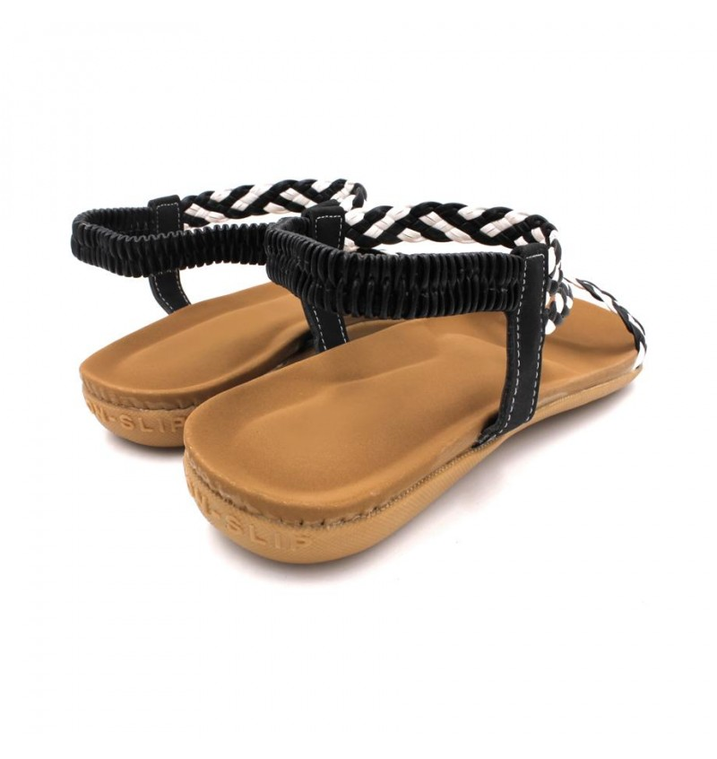 MIDZONE Lady Comfortable Sandals MZSW1186 Black