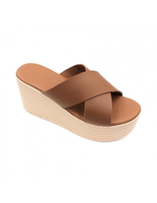 MIDZONE Lady Fashion Wedges MZSW13-1117 Apricot