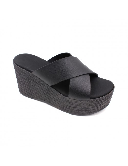MIDZONE Lady Fashion Wedges MZSW13-1117 Black