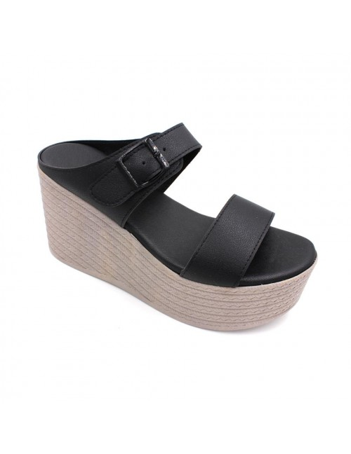 MIDZONE Lady Fashion Wedges MZSW13-1123 Black