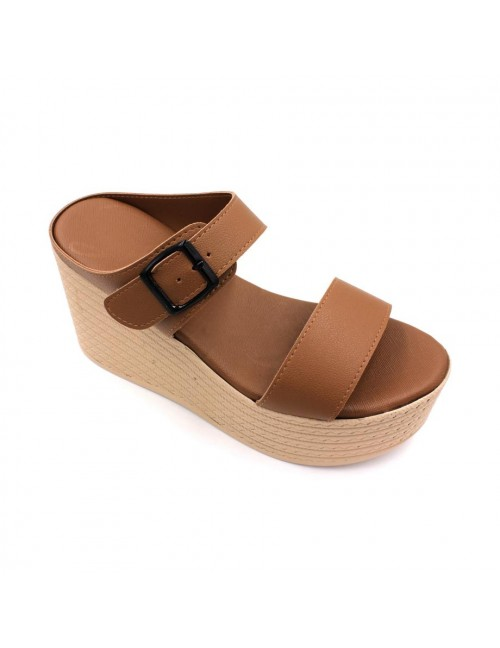 MIDZONE Lady Fashion Wedges MZSW13-1123 Camel