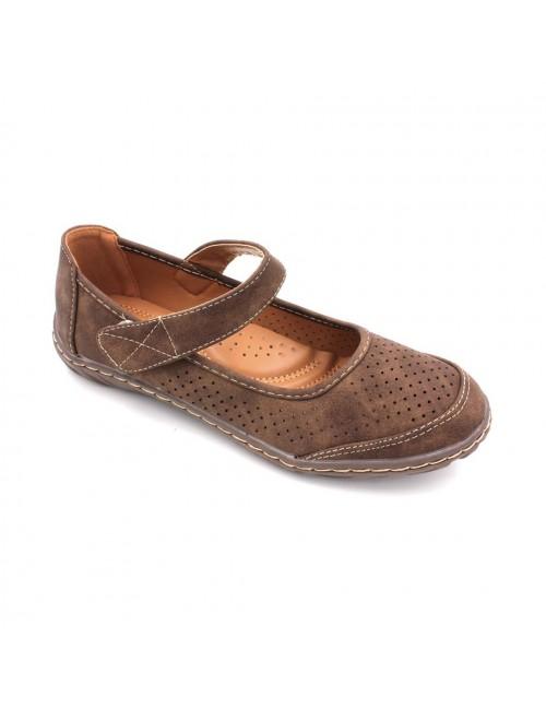 MIDZONE Comfortable Ballet Flat MZYYW8246-3 Brown