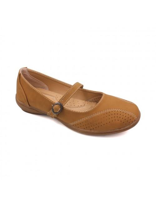 MIDZONE Comfortable Ballet Flat MZYY2008-32 Tan