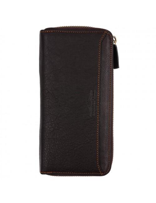 BULL RYDERS Genuine Leather Long Zipper Wallet BWGD-80441
