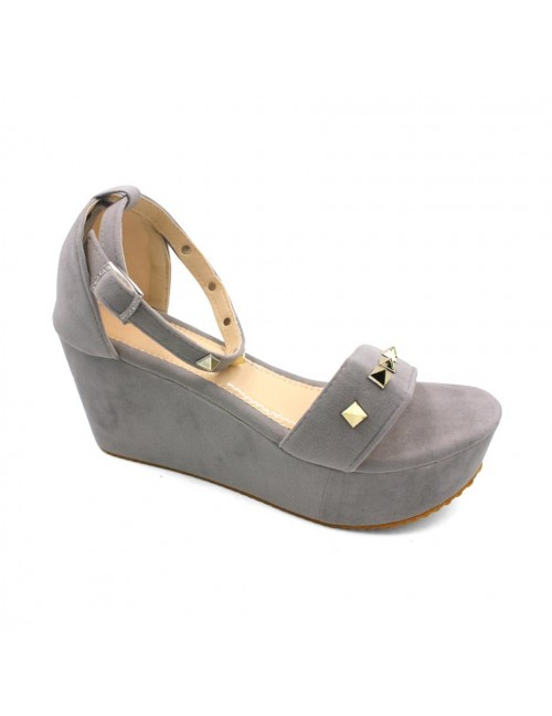 MIDZONE Lady Fashion Wedges MZ345 Grey