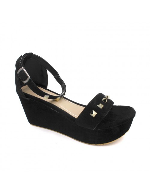 MIDZONE Lady Fashion Wedges MZ344 Black
