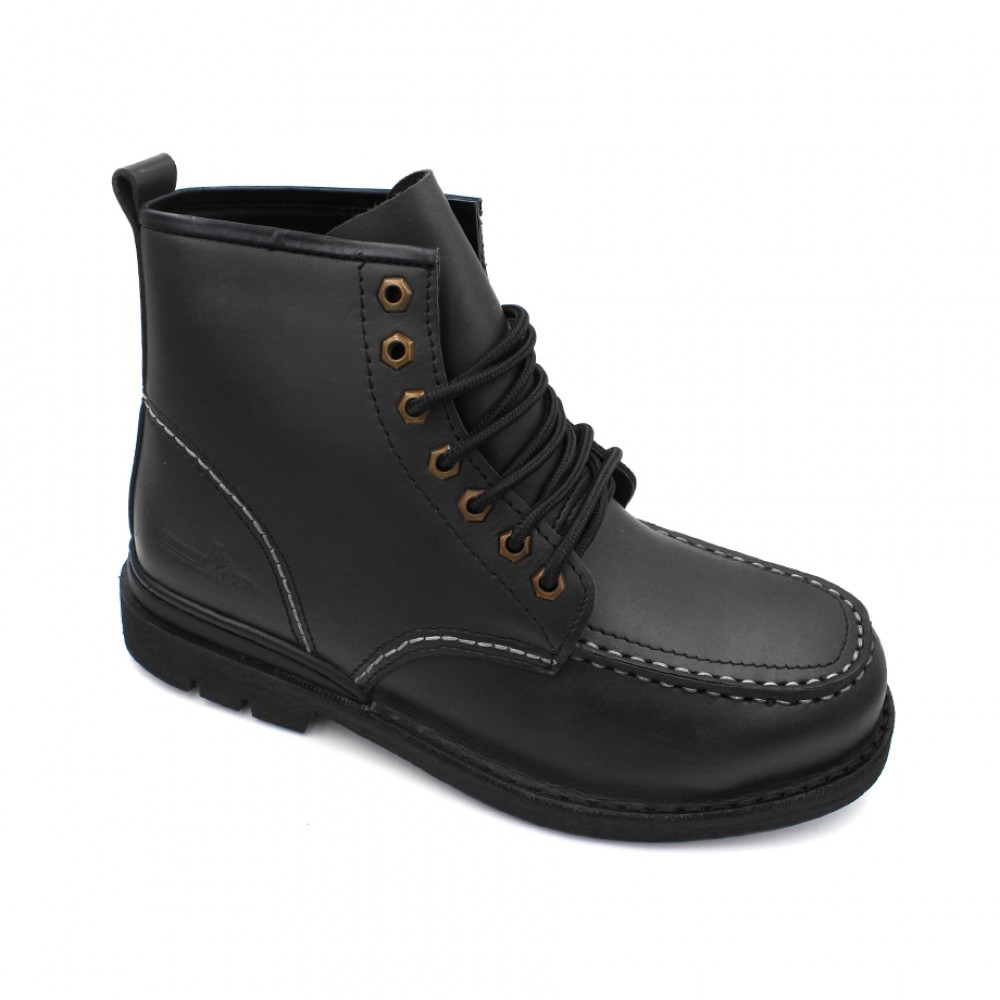 HAMMER KING Safety Genuine Leather Boots MZHK13007 Black