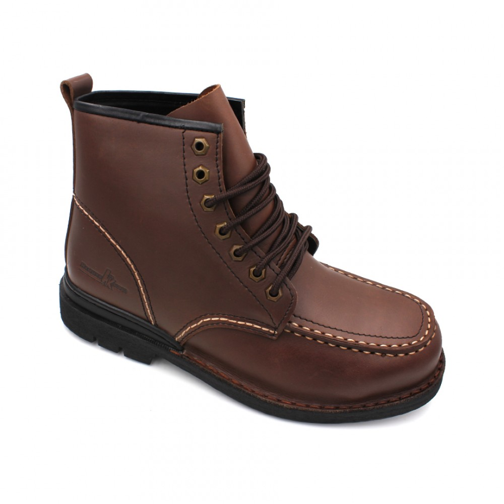 HAMMER KING Safety Genuine Leather Boots MZHK13007 Brown