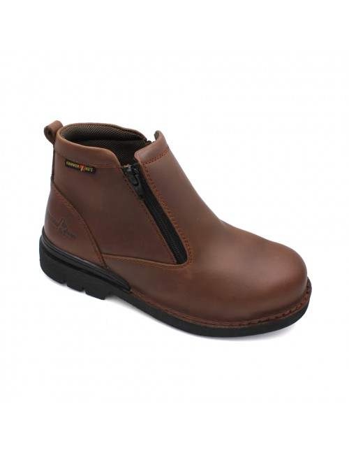 HAMMER KING Safety Genuine Leather Boots MZHK13003 Brown