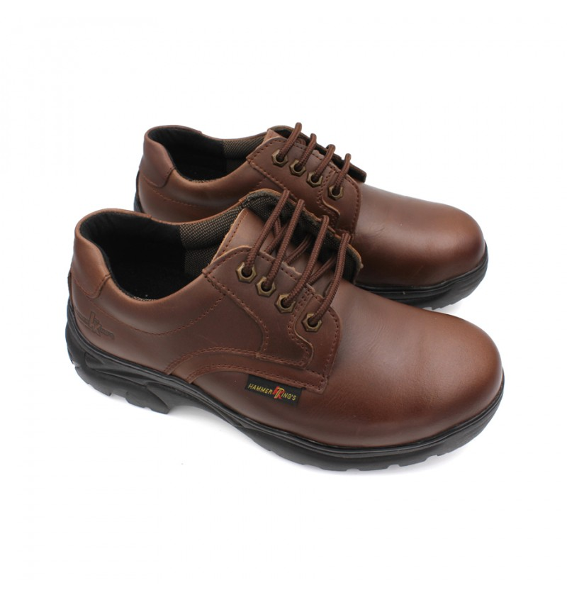 HAMMER KING Safety Genuine Leather Low Cut MZHK13012 Brown
