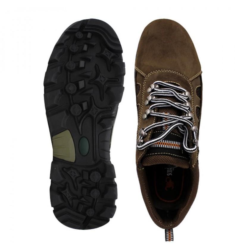 SCORPION Leather Sneaker SCA256-3 Coffee
