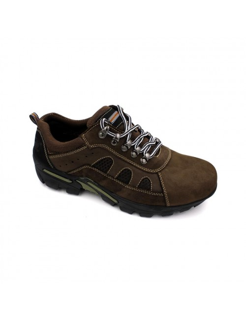 SCORPION Leather Sneaker SCA256-3 Coffee