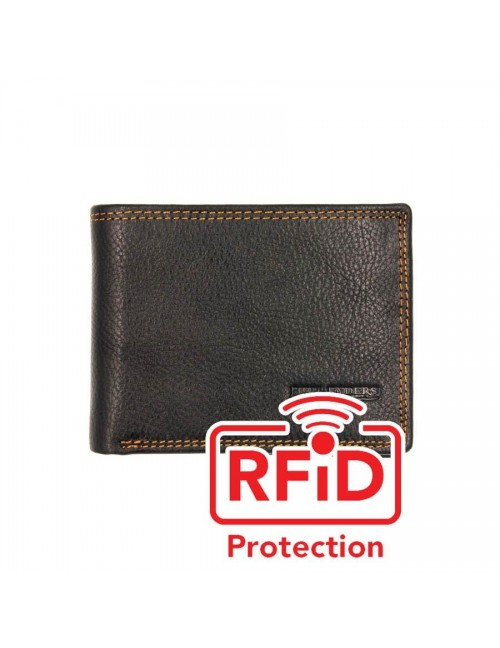 BULL RYDERS RFID Protection Genuine Leather Wallet BWGH-80461