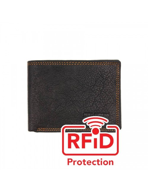 BULL RYDERS RFID Protection Genuine Leather Wallet BWGH-80460