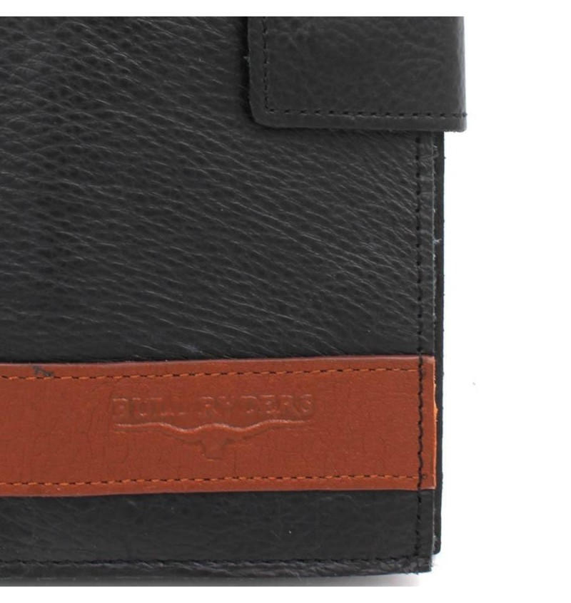 BULL RYDERS Genuine Leather Long Wallet BWFQ-80364