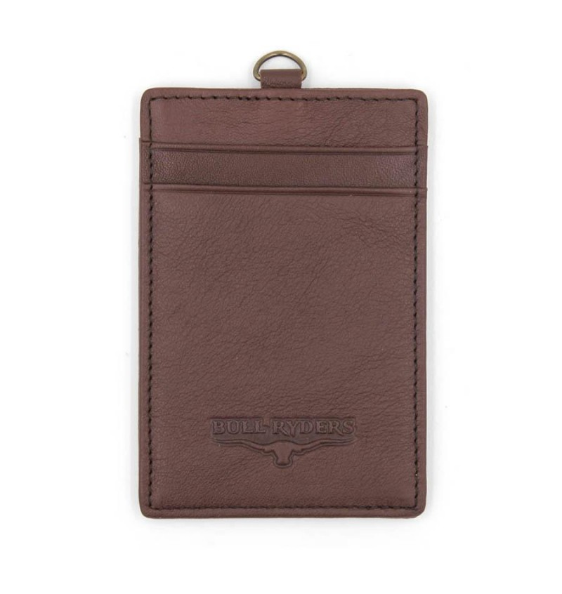 BULL RYDERS Genuine Leather Card Holder BWDG-80102 Dark Brown
