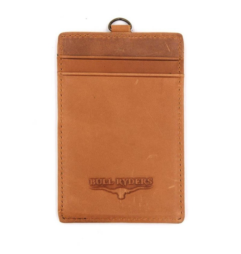 BULL RYDERS Genuine Leather Card Holder BWDG-80102 Brown