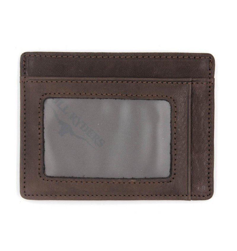 BULL RYDERS Genuine Leather Card Holder BWDG-80101 Dark Brown