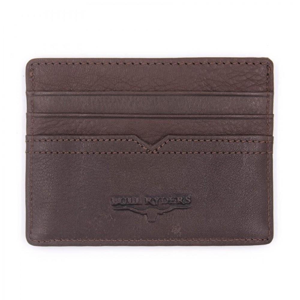 BULL RYDERS Genuine Leather Card Holder BWDG-80101 Dark Brown