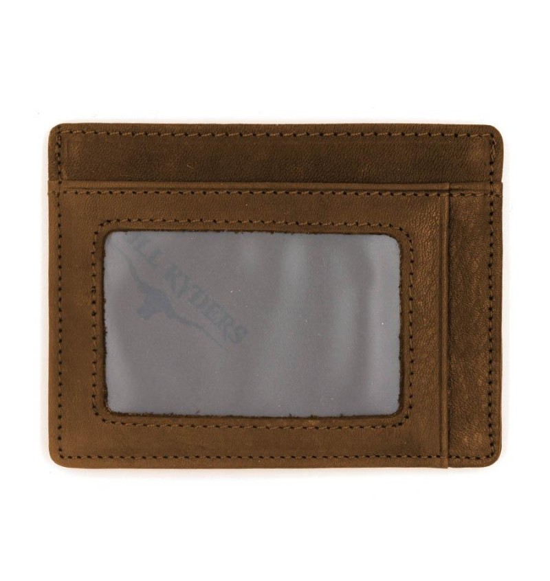 BULL RYDERS Genuine Leather Card Holder BWDG-80101 Brown
