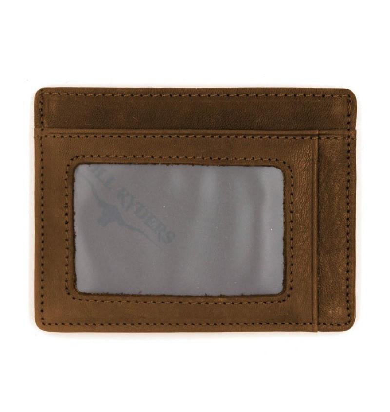 BULL RYDERS Genuine Leather Card Holder BWDG-80101 Brown