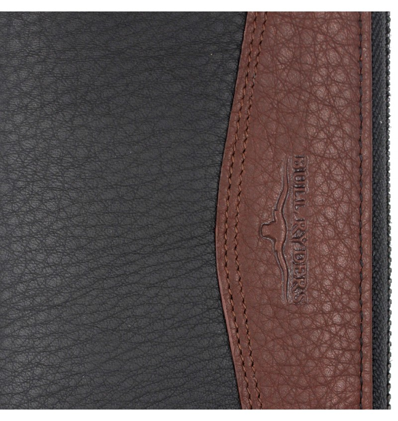 BULL RYDERS Genuine Leather Long Wallet BWDX-80134