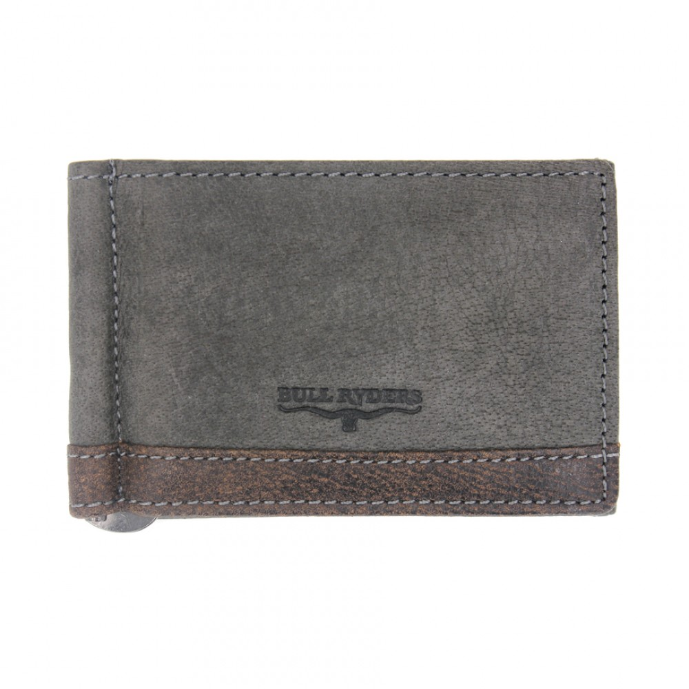 BULL RYDERS Genuine Leather Card Holder BWEJ-80188 Grey