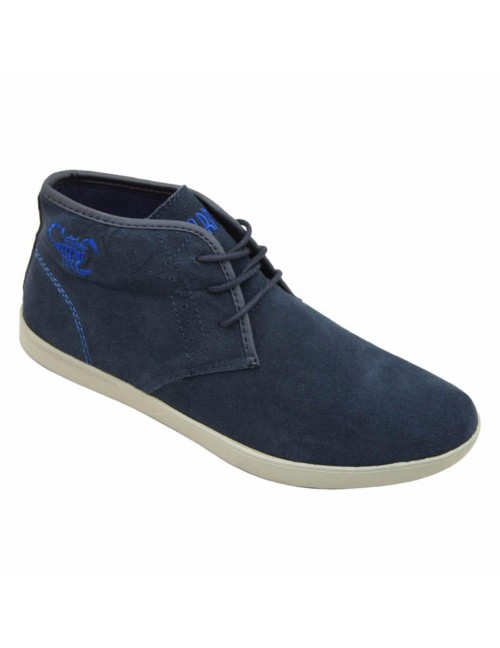 SCORPION Suede Leather High Cut SC1665 Navy