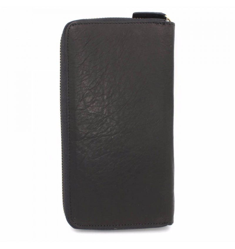 BULL RYDERS Genuine Leather Long Zipper Wallet BWDY-80140