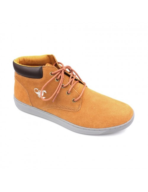 SCORPION Suede Leather Sneaker SC8827 Yellow