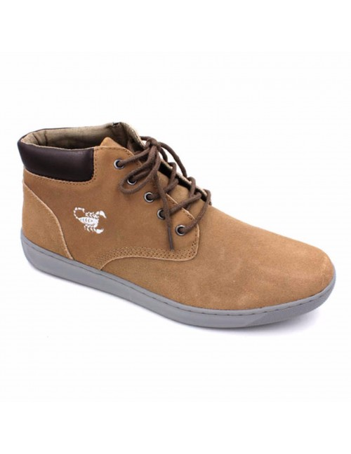 SCORPION Suede Leather Sneaker SC8827 Khaki