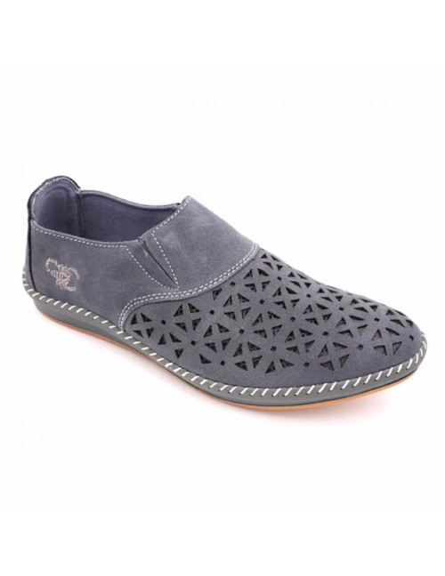 SCORPION Men Suede Leather Loafer SC3523 Grey